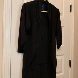 Open Front Cardigan Shawl Collar